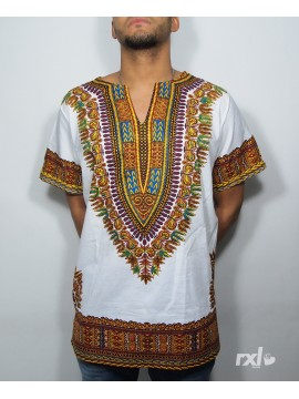 "RXL Paris - Dashiki ""YA MADO"" en WAX BLANC"