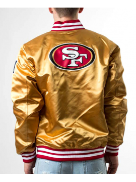 New Era Bomber Satin San Francisco 49ers Or