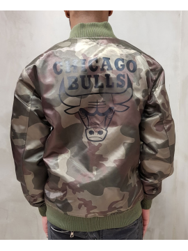 New Era Bomber Satin Chicago Bulls Camo