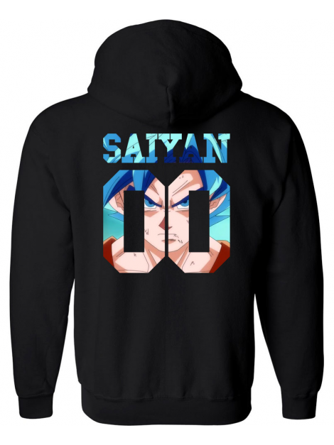 RXL Paris Sweat A Capuche Saiyan Number Back Sangoku SSGSS Noir