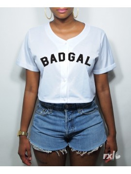 RXL Paris - T-Shirt Mesh Baseball Court Badgal Rouge