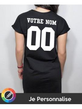 RXL Paris - Tshirt Long Back Number Noir