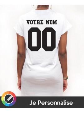 RXL Paris - Tshirt Long Back Number Blanc