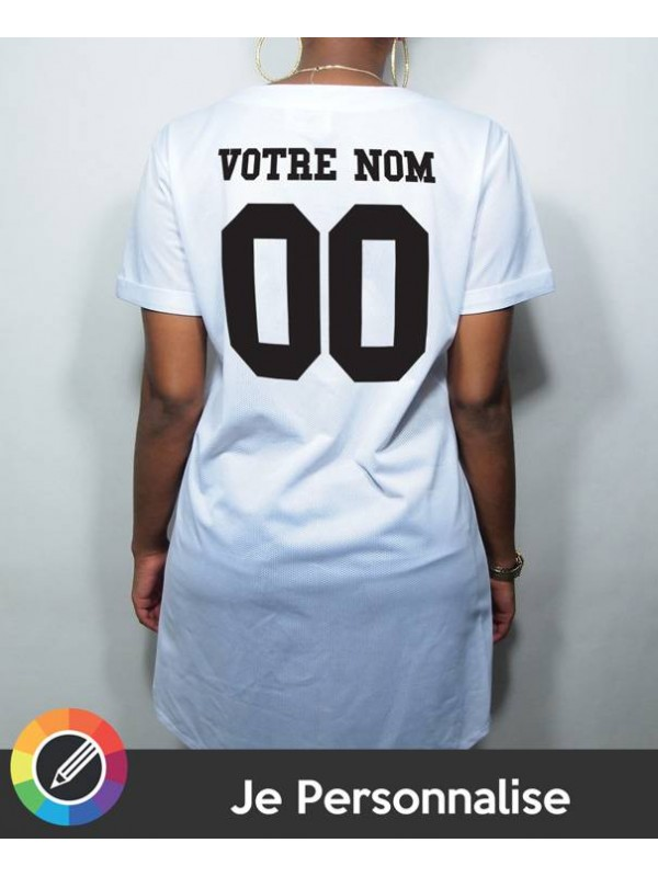 RXL Paris - Tshirt Long Baseball Mesh Back Number Noir