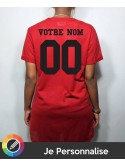 RXL Paris - Tshirt Long Baseball Mesh Back Number Rouge