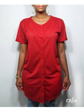 RXL Paris - Tshirt Long Baseball Mesh Back Number Rouge