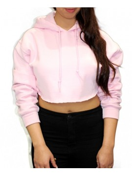 RXL Classic - Sweat à Capuche Court Rose