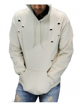 RXL Classic - Sweat Capuche Destroyed Beige