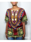 I Customize Women Dashiki RXL Paris Wax in Wine - Back Number