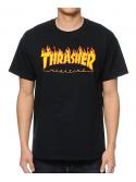 Thrasher - Tshirt Flame Logo Noir