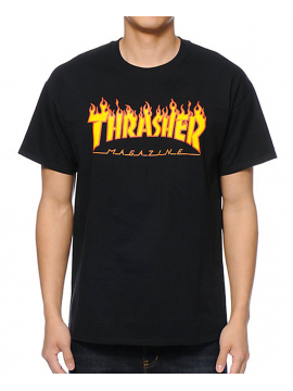 f415e8752bcc Thrasher - Flame Logo Tee in Black