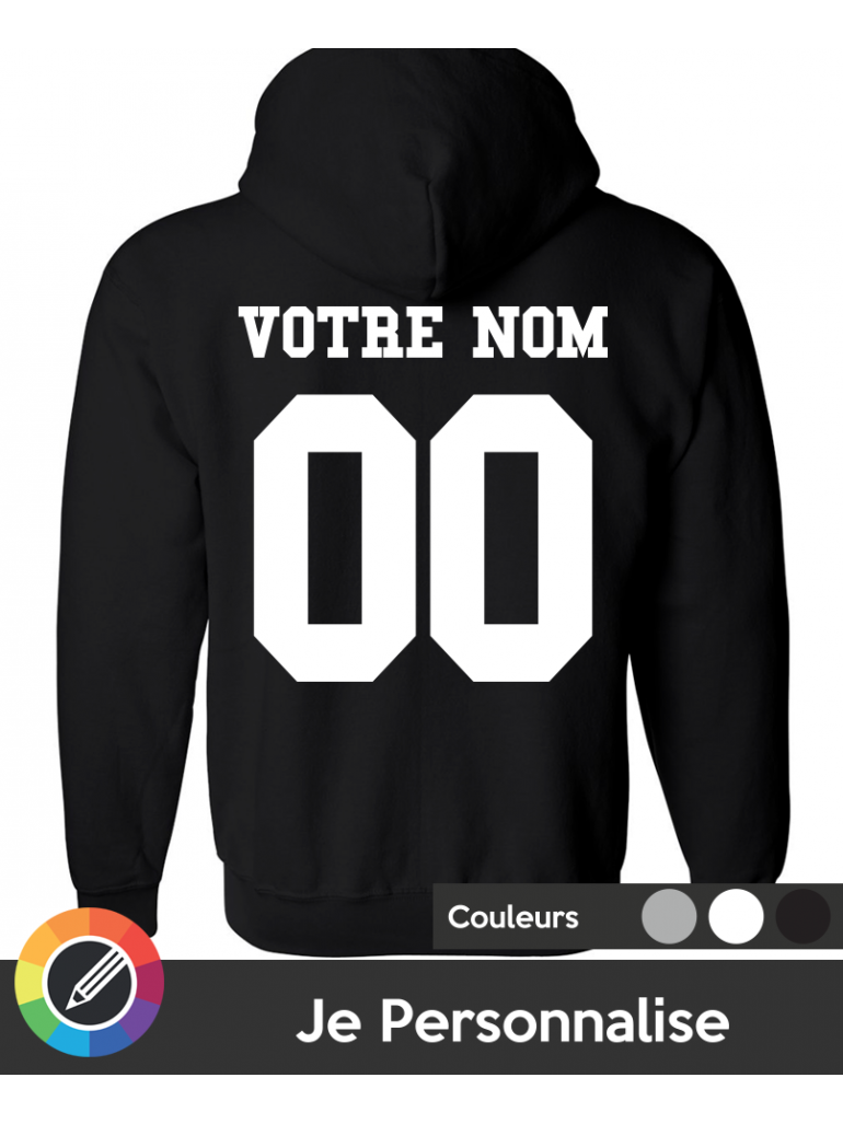 Hoodie Unisex in 3 Colors Available Customize Name + Number