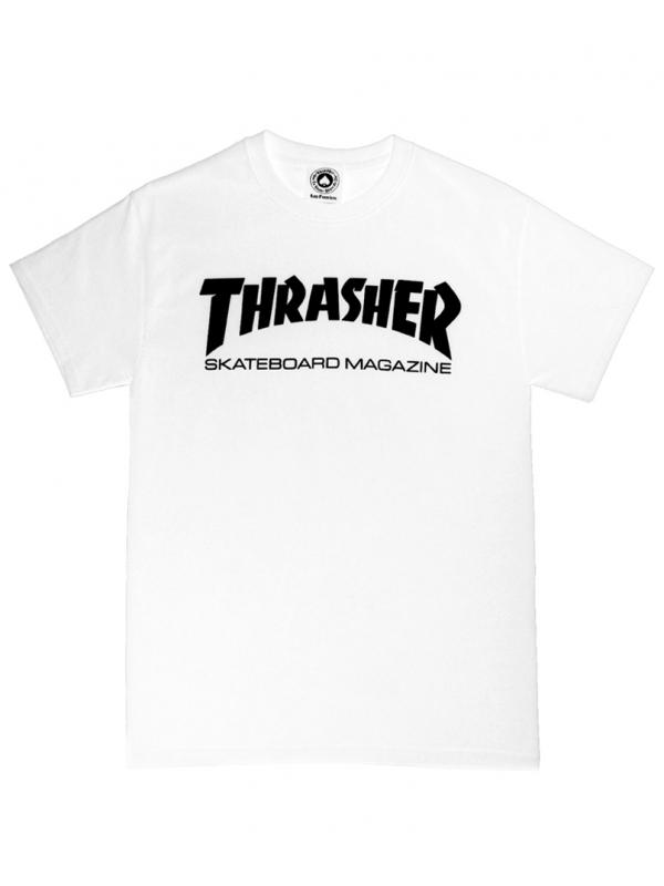Thrasher - T-shirt Thrasher Skate Magazine Blanc