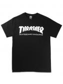 Thrasher - T-shirt Thrasher Skate Magazine Noir