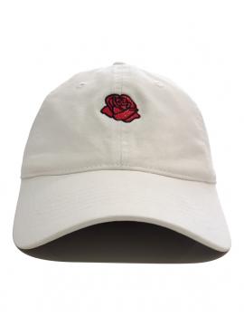RXL Paris - Casquette Petite Rose Fleur Blanc Cassé