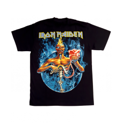 Iron Maiden Circle Amplified Tee in Black