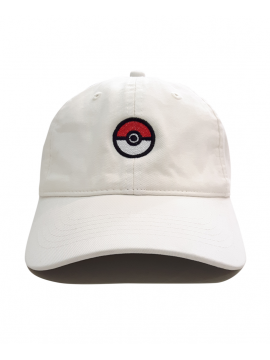 Pokeball Dad Hat in White