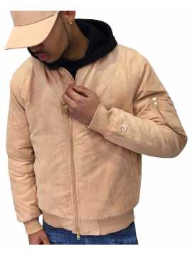 DSLINE X Canvas And Colors Bomber Suede Beige Pastel