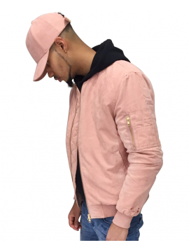 DSLINE X Canvas And Colors Bomber Suede Rose Pastel