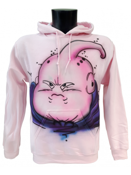 RXL Paris - Majin Buu Airbrush Custom Hoodie in Pink