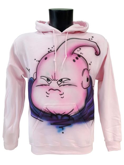 RXL Paris - Majin Buu Airbrush Custom Hoodie in Pink
