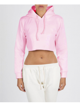 RXL - Crop Top Hooded Pastel Pink