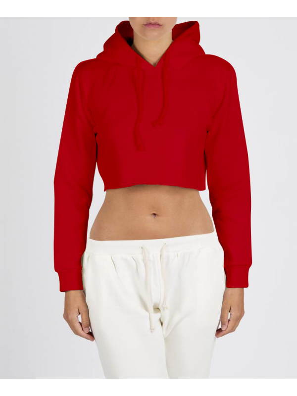 RXL - Crop Top Hooded Red