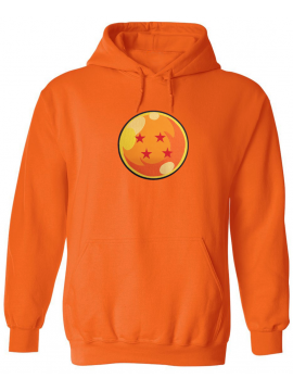 RXL Paris - Patch Brodé Dragon Ball Z Boule De Cristal Sweat A Capuche Orange