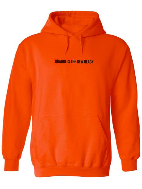 RXL Paris Orange Is The New Black Embroidered Hoodie Orange