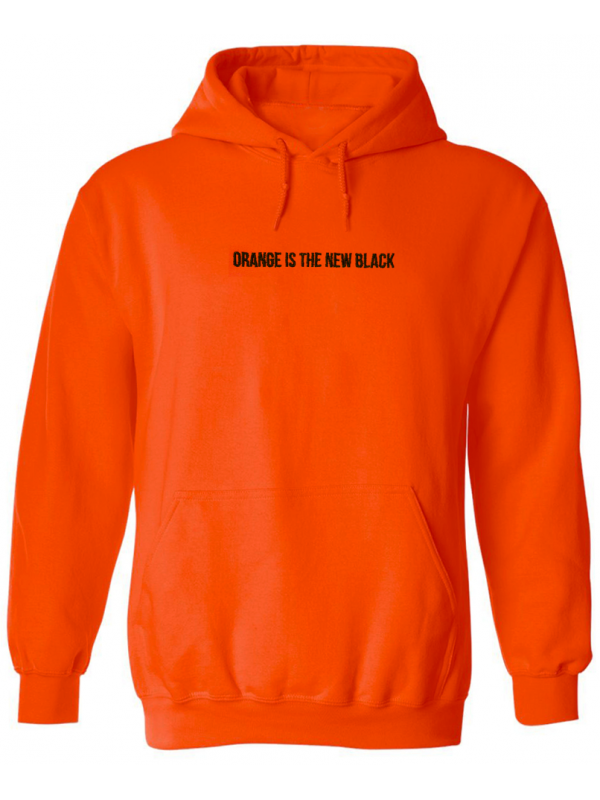 RXL Paris Orange Is The New Black Brodé Sweat A Capuche Orange