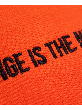RXL Paris Orange Is The New Black Embroidered Hoodie Orange