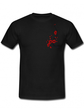 RXL Paris Patch Sakura T-Shirt Noir/Rouge