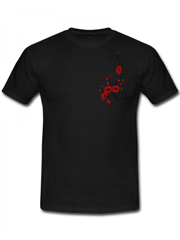 RXL Paris Sakura T-Shirt Noir/Rouge