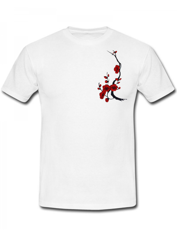 RXL Paris Sakura T-Shirt Blanc/Rouge