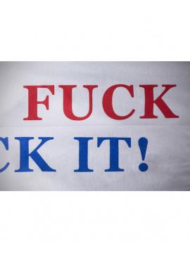 HUF Flag Box Logo Tshirt Manches Longues Blanc