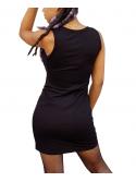 RXL Paris Robe Courte Moulante à Encolure Dégagée Noir