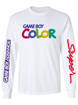 RXL Paris GameBoy Color T-Shirt Manches Longues Blanc