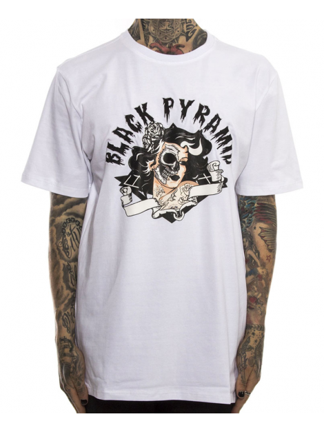 Black Pyramid Skull Candy Girl T-Shirt Blanc