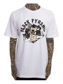 Black Pyramid Skull Candy Girl Tee White