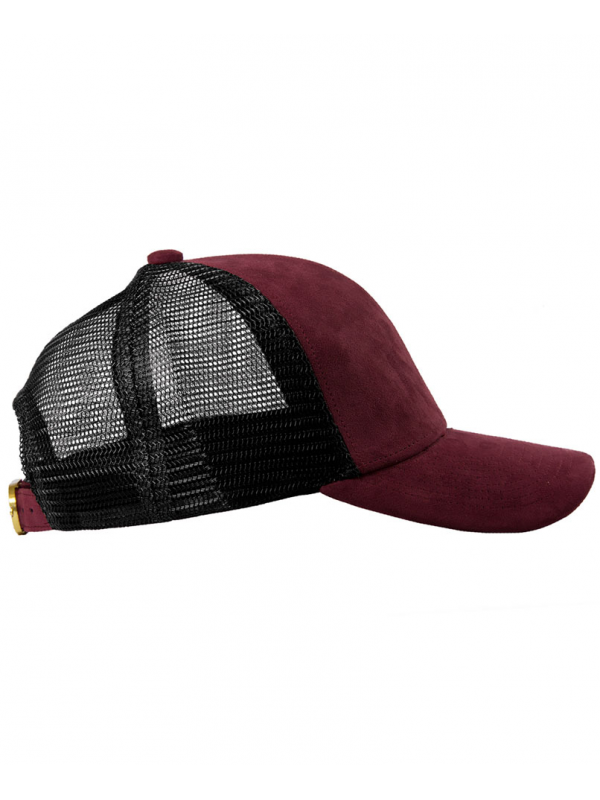 DSLINE Trucker Baseball Bordeaux Suede / Or