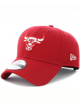 New Era Casquette 9Forty Felt Infill Chicago Bulls Rouge