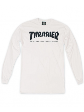 Thrasher Skate Mag Long Sleeve Tshirt White