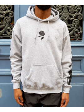 RXL Paris Rose Of The Flames Sweat A Capuche Gris