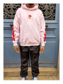 RXL Paris Rose Of The Flames Sweat A Capuche Rose