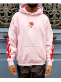 RXL Paris Rose Of The Flames Sweat A Capuche Rose