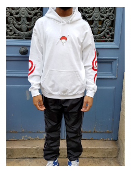 RXL Paris Uchiha Clan Sweat A Capuche Blanc