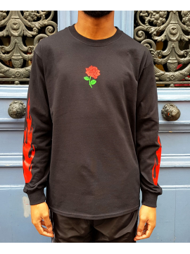 RXL Paris Rose Of The Flames T-Shirt Long Sleeve Black