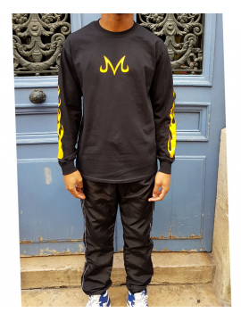RXL Paris Majin Vegeta T-Shirt Long Sleeve Black