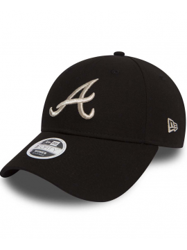 New Era 9Forty Femme Essential Atlanta Braves Noir