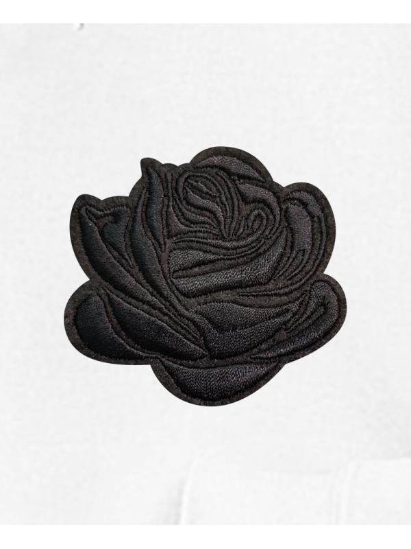 RXL Paris Rose Noir Brodé Sweat À Capuche Blanc